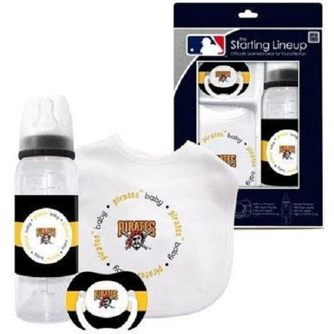 MLB Pittsburgh Pirates Gift Set Bottle Bib Pacifier by baby fanatic