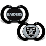 NFL Pacifiers Set of 2 Images Color Shield on Card by baby fanatic
