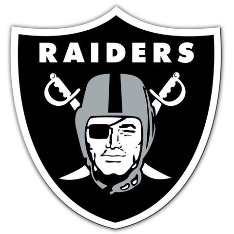 NFL 12 INCH AUTO MAGNET OAKLAND RAIDERS CURRENT LOGO