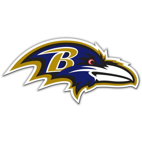 NFL 12 INCH AUTO MAGNET BALTIMORE RAVENS RIGHT FACING LOGO