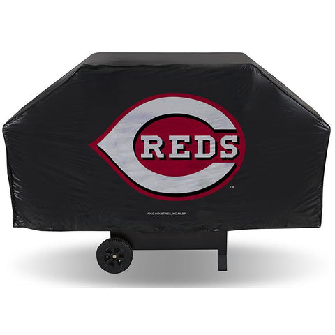 MLB Cincinnati Reds 68 Inch Red Vinyl Economy Gas / Charcoal Grill Cover