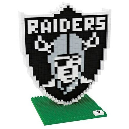 NFL Oakland Raiders Team Logo BRXLZ 3-D Puzzle 833 Pieces