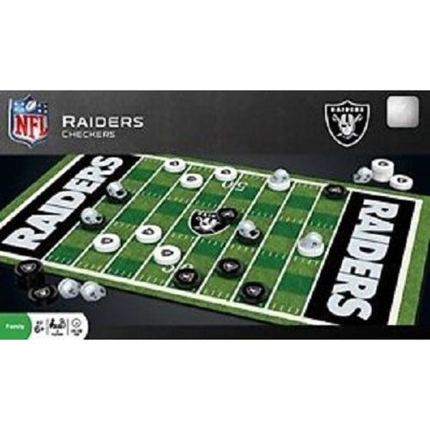 NFL Oakland Raiders Checkers Game by Masterpieces Puzzles Co.