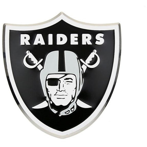 NFL Oakland Raiders 3-D Color Logo Auto Emblem By Team ProMark