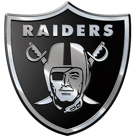NFL Oakland Raiders 3-D Chrome Heavy Metal Emblem By Team ProMark