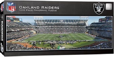 NFL Oakland Raiders Panoramic 1000pc Puzzle by Masterpieces Puzzles