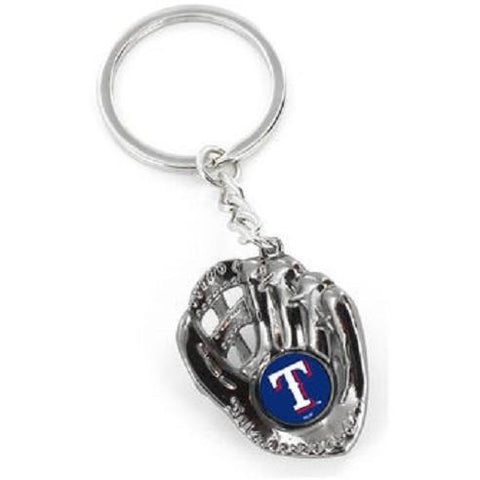 MLB Texas Rangers Chrome Glove With Logo in Palm Key by AMINCO