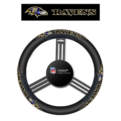 NFL Baltimore Ravens Massage Steering Wheel Cover By Fremont Die