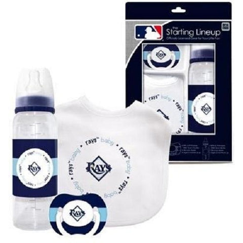 MLB Tampa Bay Rays Gift Set Bottle Bib Pacifier by baby fanatic