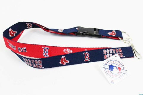 MLB Boston Red Sox Reversible Lanyard Keychain 23″ Long 3/4″ Wide by Aminco