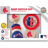 MLB Real Wood Baby Rattles (2-Pack) by MasterPieces Puzzle Co.