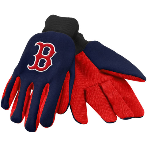MLB Boston Red Sox Colored Palm Utility Gloves by Forever Collectibles