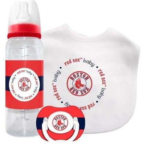 MLB Boston Red Sox Gift Set Bottle Bib Pacifier by baby fanatic
