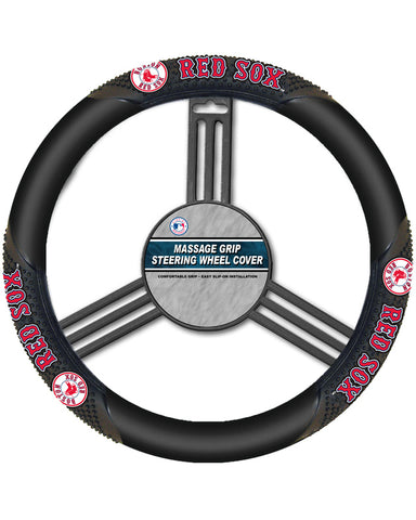 MLB Boston Red Sox Massage Steering Wheel Cover By Fremont Die