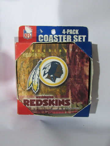 NFL Washington Redskins Logo on Reflections Thick Paper Coasters 6 Pack