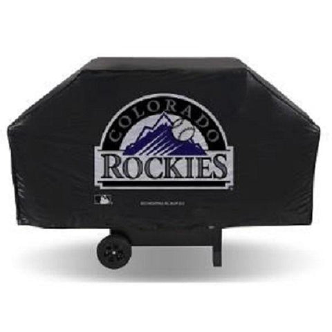 MLB Colorado Rockies 68 Inch Red Vinyl Economy Gas / Charcoal Grill Cover