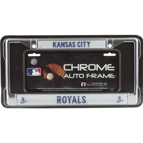 MLB Chrome License Plate Frame Kansas City Royals Thin Raised Letters