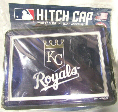 MLB Kansas City Royals Laser Cut Trailer Hitch Cap Universal Fit by WinCraft
