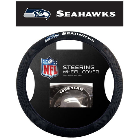 NFL POLY-SUEDE MESH STEERING WHEEL COVER SEATTLE SEAHAWKS