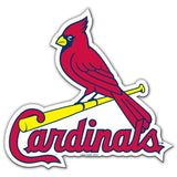 MLB 12 INCH AUTO MAGNET ST LOUIS CARDINALS CURRENT LOGO