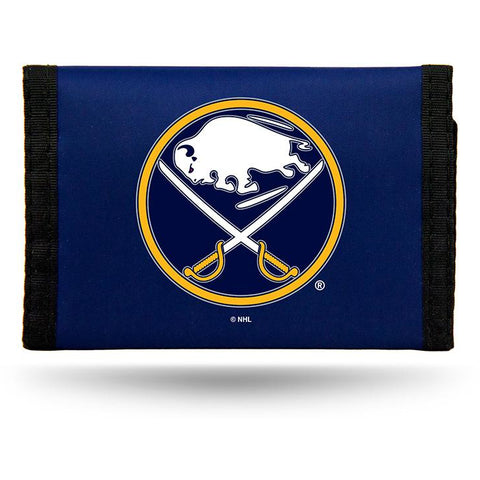 NHL Buffalo Sabres Tri-fold Nylon Wallet with Printed Logo