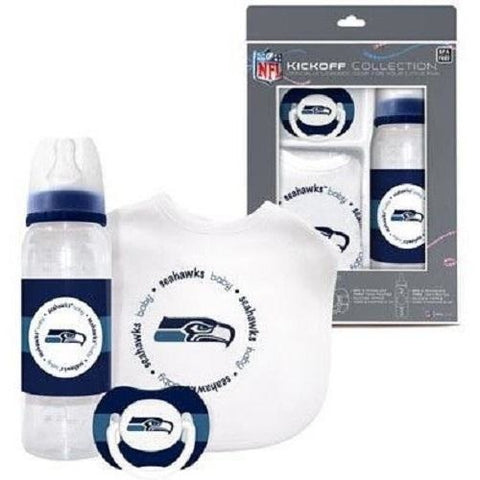 NFL Seattle Seahawks Baby Gift Set Bottle Bib Pacifier by baby fanatic