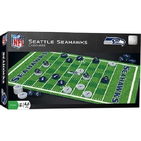 NFL Seattle Seahawks Checkers Game by Masterpieces Puzzles Co.