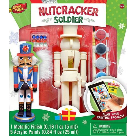 MasterPieces Works of Ahhh... Nutcracker Soldier Wood Paint Kit