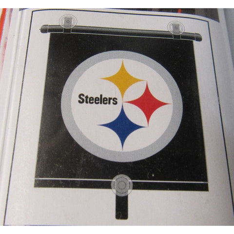 "NFL Pittsburgh Steelers Automotive Window Sun Shade 14"" x 18"" by Topperscot"