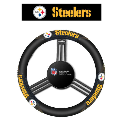 NFL Pittsburgh Steelers Massage Steering Wheel Cover By Fremont Die