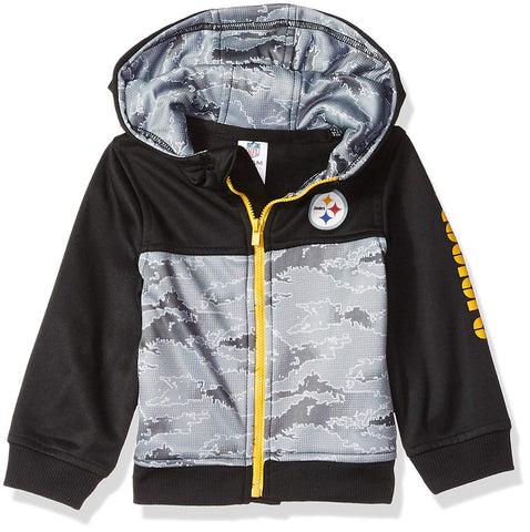 NFL Pittsburgh Steelers Boys Black Hooded Jacket 4T by Gerber