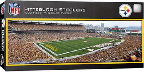 NFL Pittsburgh Steelers Panoramic 1000pc Puzzle by Masterpieces Puzzles