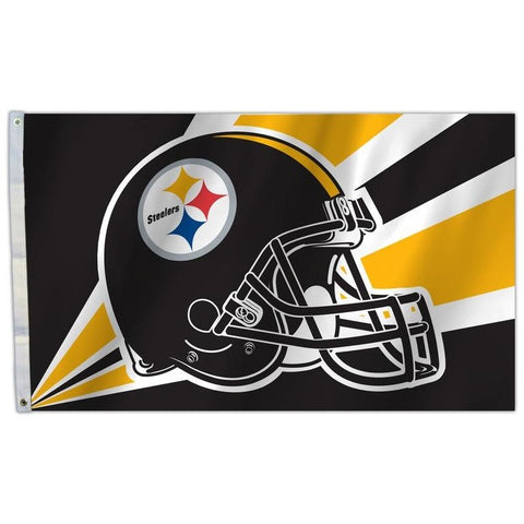 NFL 3' x 5' Team Helmet Flag Pittsburgh Steelers by Fremont Die