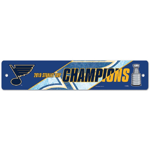 "NHL St. Louis Blues 2019 Stanley Cup Champions 3.75"" by 19"" Street Sign by WinCraft"