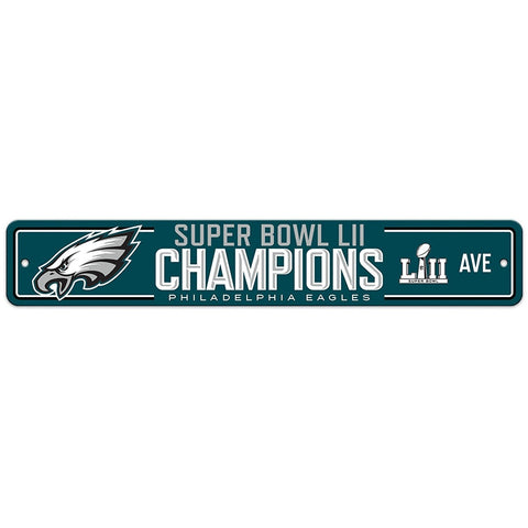 "Philadelphia Eagles Super Bowl LII Champion Street Sign 3.75"" by 19"""