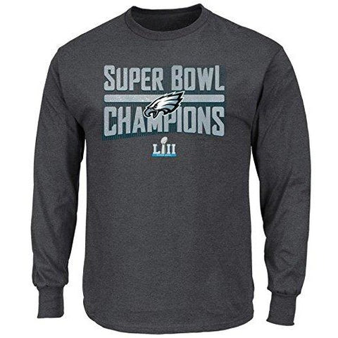 NFL Philadelphia Eagles Super Bowl LII Sudden Impact Gray Long Sleeve T-Shirt
