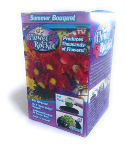 Flower Rocket AS SEEN ON TV Summer Bouquet Kit Over 500 Seeds