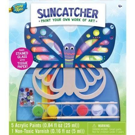 MasterPieces Works of Ahhh... Suncatcher Figurine Large Wood Paint Kit 21691