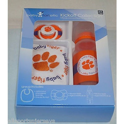 NCAA Clemson Tigers Baby Feeding Gift Set by baby fanatic