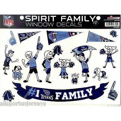 NFL Tennessee Titans Spirit Family Decals Set of 17 by Rico Industries