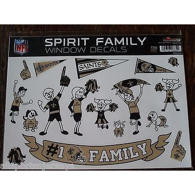 NFL New Orleans Saints Spirit Family Decals Set of 17 by Rico Industries