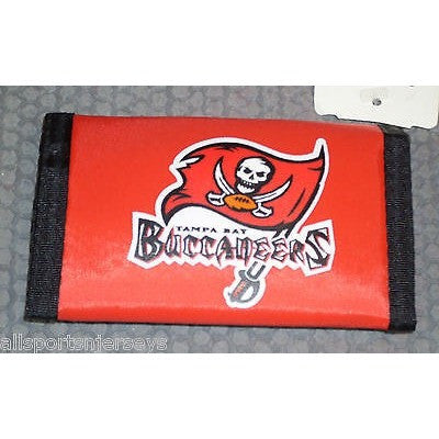 NFL Tampa Bay Buccaneers Tri-fold Nylon Wallet with Printed Logo with Name