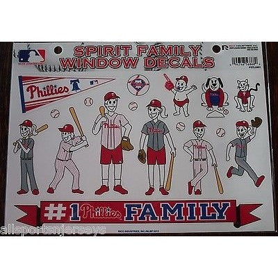 MLB Philadelphia Phillies Spirit Family Decals Set of 17 by Rico Industries