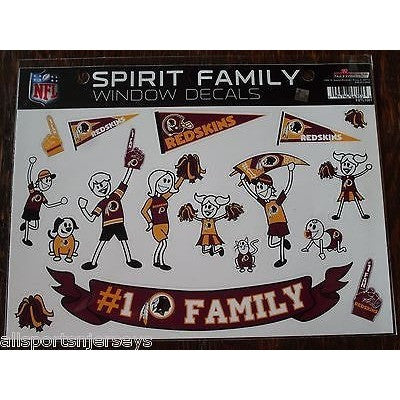 NFL Washington Redskins Spirit Family Decals Set of 17 by Rico Industries