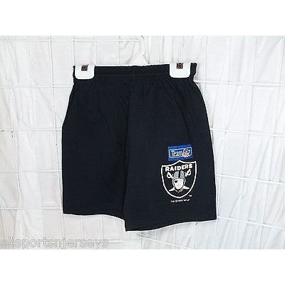NFL Las Vegas Raiders Logo Screen Printed Shorts Size Youth Large