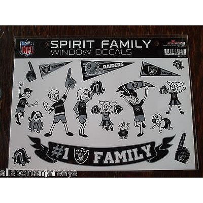 NFL Oakland Raiders Spirit Family Decals Set of 17 by Rico Industries