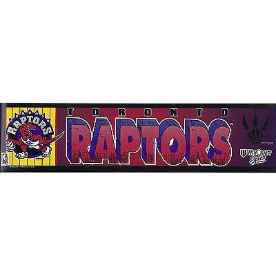 "NBA Toronto Raptors Bumper Sticker 11"" X 3"" by Rico Industries"