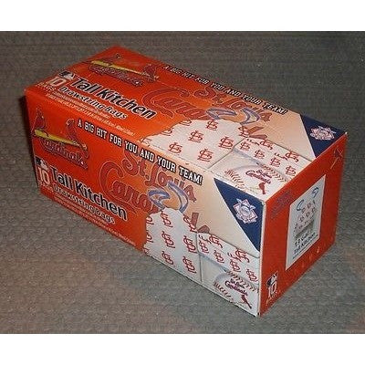 MLB St. Louis Cardinals Tall Kitchen Drawstring Trash Bags 10ct Box 13 Gallon