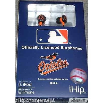 MLB Team Logo Earphones Baltimore Orioles By iHip