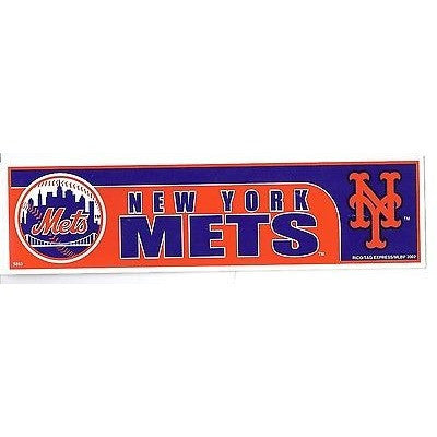 "MLB New York Mets Bumper Sticker 11"" X 3"" by Rico Industries"